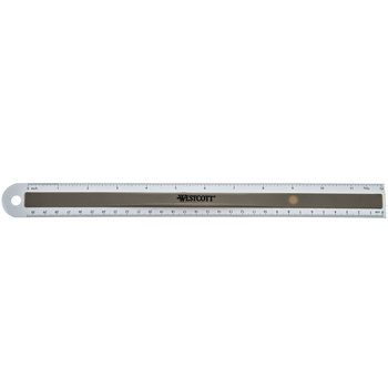 Aluminum Ruler with Finger Grip